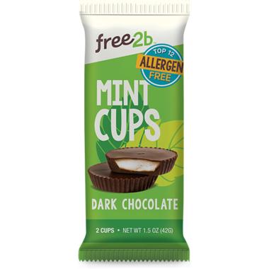 Free2b Sun Cups Mint Coated in Dark Chocolate