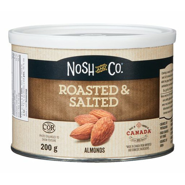 Nosh & Co Roasted & Salted Almonds Tin