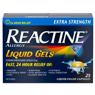 Reactine Extra Strength 25 Liquid Gels