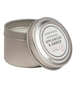 Paddywax Blue Apothecary Travel Tin Applewood & Amber Candle