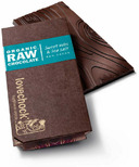 LoveChock Sweet Nibs & Sea Salt Raw Organic Dark Chocolate Tablet