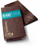 LoveChock Sweet Nibs and Sea Salt Raw Organic Dark Chocolate Tablet
