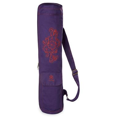 Gaiam Embroidered Cargo Mat Bag Aubergine Swirl