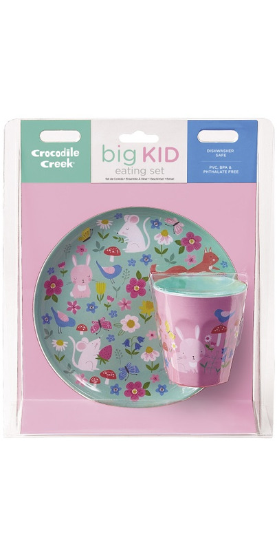 1 Each CROCODILE CREEK Backyard Friends Plate /& Cup Gift Set