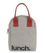 Fluf Zippered Lunch Grey/Burgundy