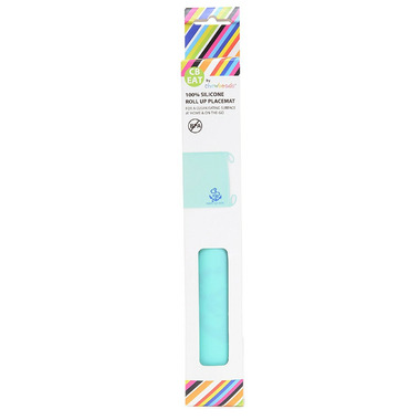 Chewbeads Silicone Roll-Up Placemat Turquoise
