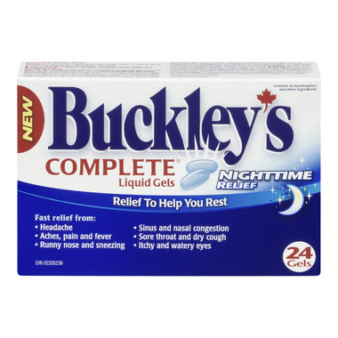 Buckley\'s Complete Night Time Liquid Gels