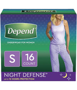 Depend Night Defense Incontinence Underwear for Women Overnight Small