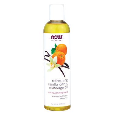 NOW Solutions Refreshing Vanilla Citrus Massage Oil
