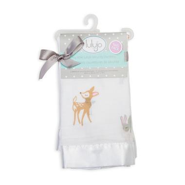 Lulujo Baby Muslin Cotton Security Blanket