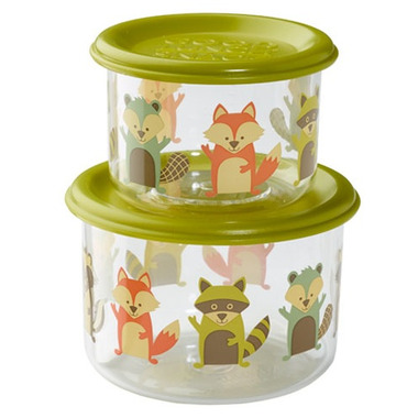 Sugarbooger Good Lunch Snack Containers Small What did the Fox Eat