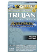 Trojan Bareskin Lubricated Latex Condoms
