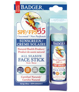 Badger All Season Unscented Face Stick Sunscreen