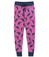Hatley Little Blue House Women's Sleep Leggings Raspberry Moose