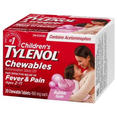 Tylenol Children\'s Chewable Tablets Bubble Gum