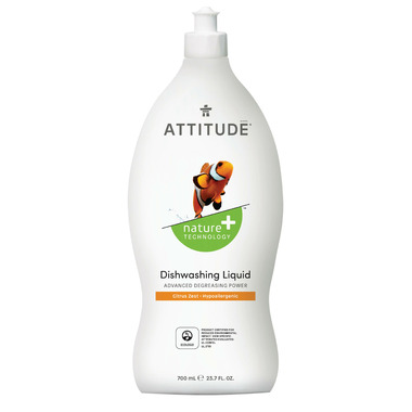 ATTITUDE Nature+ Dishwashing Liquid Citrus Zest
