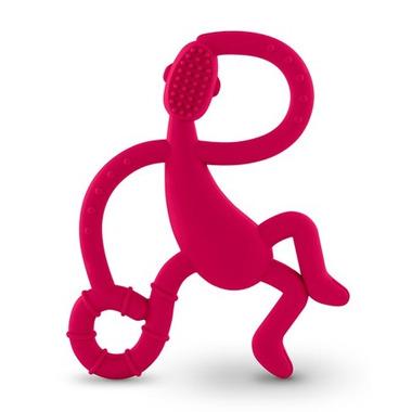 Matchstick Monkey Dancing Monkey Teether Rubine Red