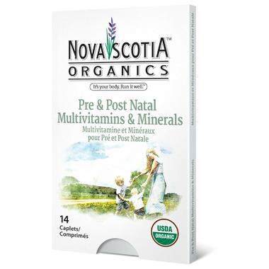 Nova Scotia Organics Prenatal and Postnatal Multivitamins & Minerals
