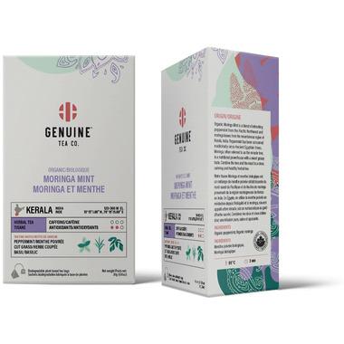 Genuine Tea Organic Moringa Mint Herbal Tea