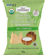 The Real Coconut Grain Free Tortilla Chips Lime