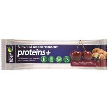 Genuine Health fermented GREEK YOGURT proteins+ Bar Cherry Almond Vanilla