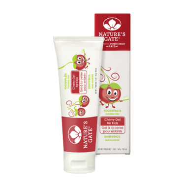 Nature\'s Gate Kid\'s Toothpaste - Cherry Gel