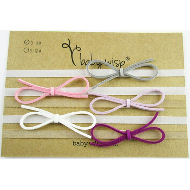 Baby Wisp Headband Ultra Skinny Faux Suede Bows GiftSet