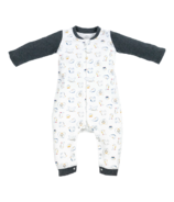 Nest Designs Organic Cotton One Piece Zippered PJ Pacific Puffin