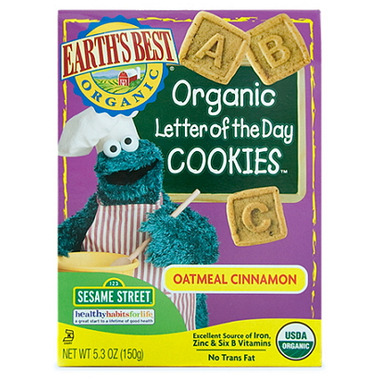 Earth\'s Best Oatmeal Cinnamon Letter of the Day Cookies