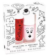 nailmatic Kids Cottage Rollette Nail Polish Duo Set Cherry + Bella