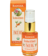 Badger Seabuckthorn Face Oil For Normal or Dry Skin