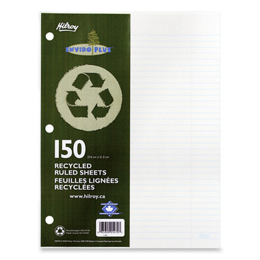 Hilroy Recycled Notebook Paper