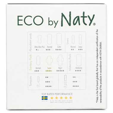 Eco by Naty Sanitary Pads Super