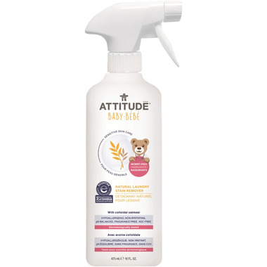 ATTITUDE Natural Baby Laundry Stain Remover