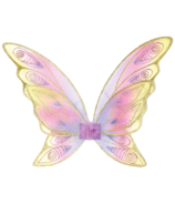 Great Pretenders Glitter Rainbow Wings Multi Pastel and Gold