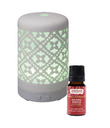 Scentuals Enlighten Diffuser and Christmas Memories Essential Oil Bundle