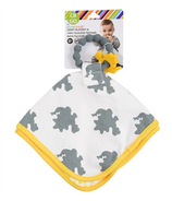 Chewbeads Lovey Blanket and Teether Stormy Grey Dinosaurs