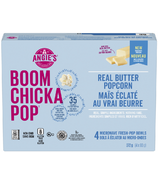 Angie's Boom Chicka Pop Real Butter Popcorn Microwave Fresh-Pop Bowls