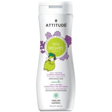 ATTITUDE Little Leaves 2-in-1 Shampoo & Body Wash Vanilla & Pear
