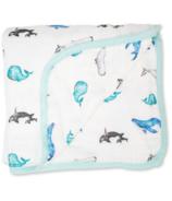 Lulujo Deluxe Quilt Muslin Whales
