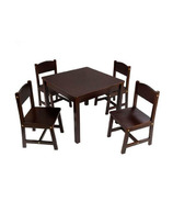 KidKraft Farmhouse Table & Chair Set Espresso