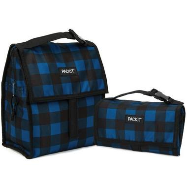 PackIt Freezable Lunch Bag Navy Buffalo