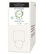 Éco-recharge en vrac de savon pour les mains naturel Super Leaves ATTITUDE feuilles d'olivier