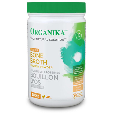 Organika Chicken Bone Broth Protein Powder Ginger