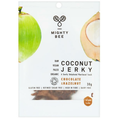 Mighty Bee Organic Vegan Coconut Jerky Chocolate & Hazelnut