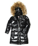Appaman Long Down Coat Sparkle Black