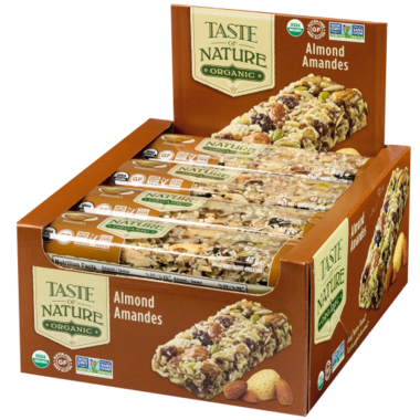 Taste of Nature Organic Food Bars Almond