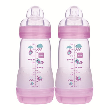 Mam Anti-Colic Bottle 9oz Violet