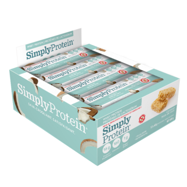 Simply Protein Whey Protein Bars Coconut
