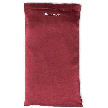 Halfmoon Silk Eye Pillow Garnet Lavender
